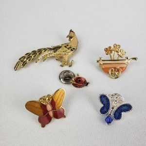 Birds and Butterfly Brooches